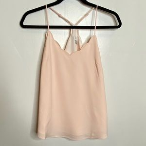 J. Crew Factory Scalloped Cami Tank